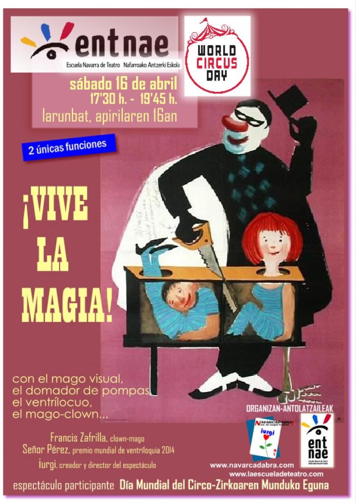 Navarcadabra y el mago iurgi organiza Día Mundial del Circo en Pamplona