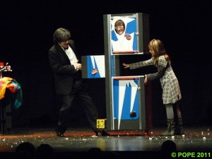 iurgi magia, actuando en Miranda de Ebro